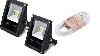 LED Прожекторы 10 W и кабель USB(Распаковка и монтаж)(, 2015-10-18T08:11:25.000Z)