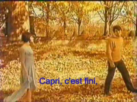Capri C'est Fini - Hervé Vilard Lyrics Karaoke