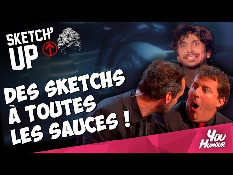 SKETCH UP SALADE TOMATES OIGNONS AVEC ARNAUD TSAMERE ARNAUD COSSON et CYRIL LEDOUBLEE