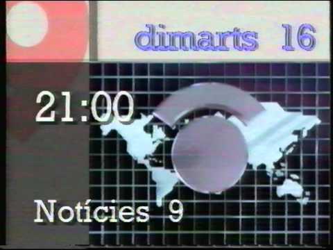 1990 canal9 cuña programacion y carta de ajuste