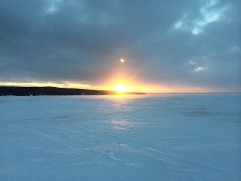 Ice Fishing for Walleye - Hubbard Lake, MI