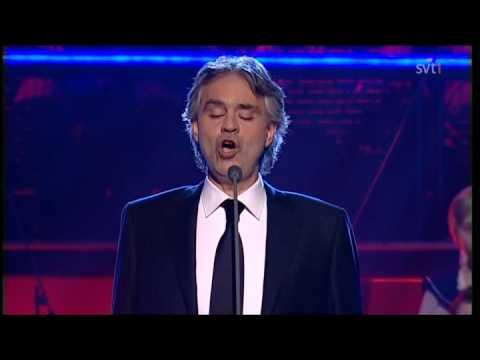 Andrea Bocelli - Voglio Vivere Cosi (Live Skavlan 2010).avi