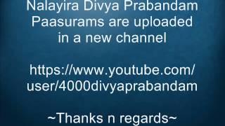 New Channel for 4000 Divya Prabandam