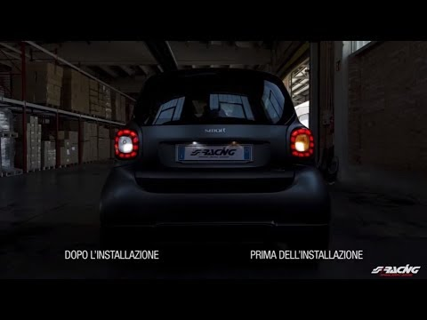 Plafoniera Targa Led Golf 7 : Ita] smart 453 luci targa led conversion simoni racing youtube