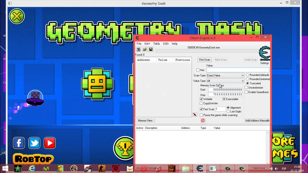 Geometry Dash Steam Version Hack Icon !! - YouTube