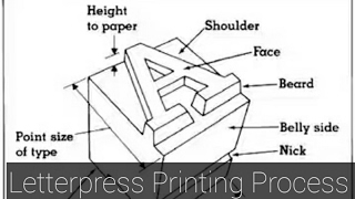 Letterpress Printing Process- an oldest way to Printing.