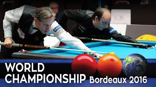 3-CUSHION World Championship. Bordeaux 2016. - Daniel Sanchez vs Eddy Leppens