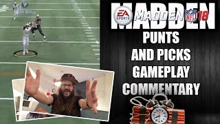 MADDEN 18 PUNTS AND PICKS - GAMEPLAY COMMENTARY