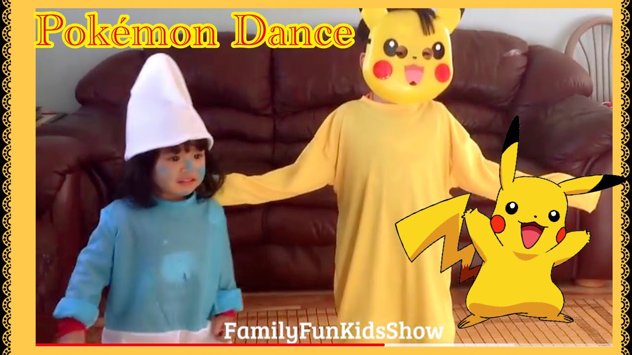 Pokemon Dance Nursery Rhymes Songs For Babies Pikachu Kaos Anak Children Video Kids
