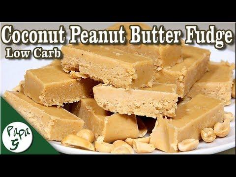 Low Carb Coconut Peanut Butter Fudge – Keto Fudge