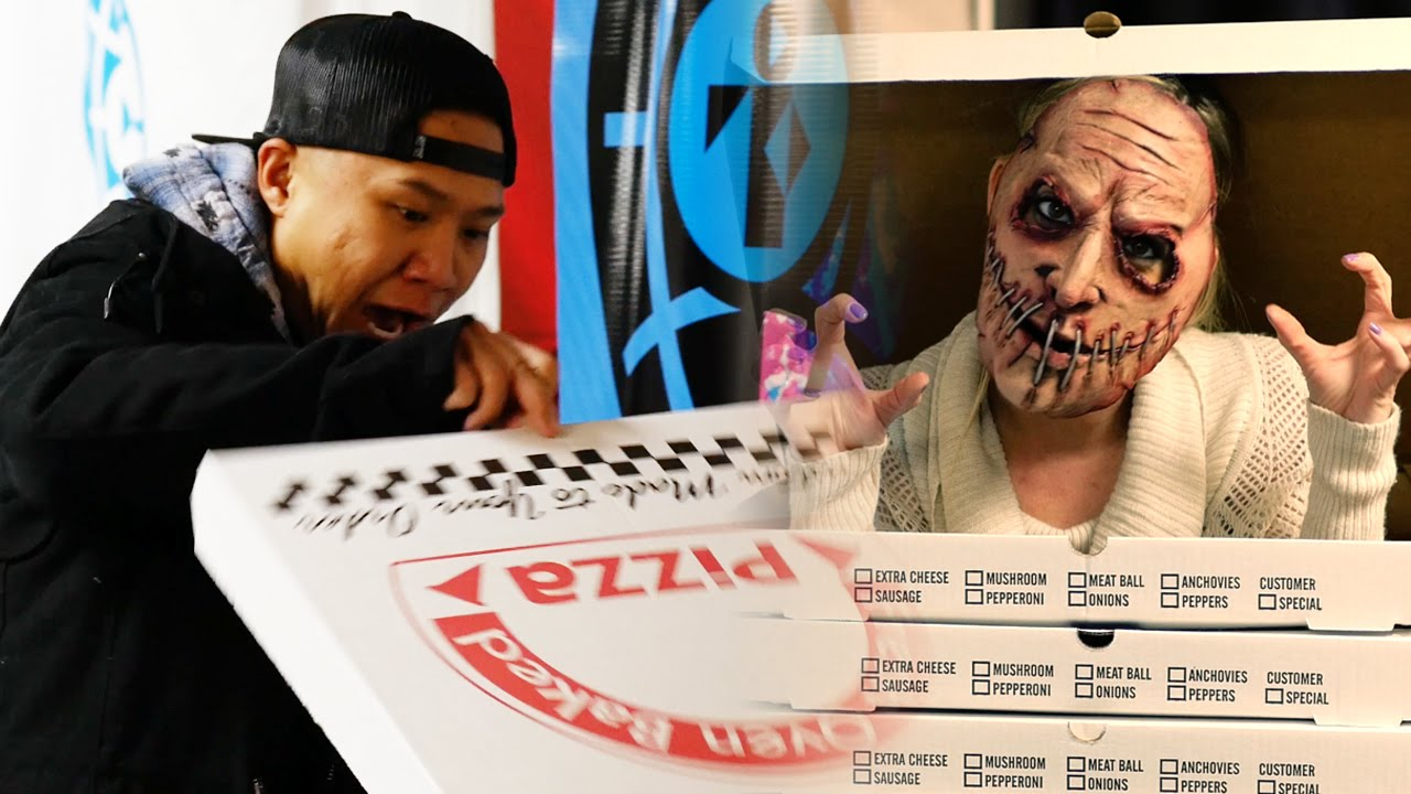 PIZZA BOX SCARE PRANK on YouTubers