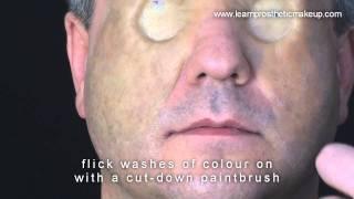 Coraline Button Eyes Makeup Part 5: Application