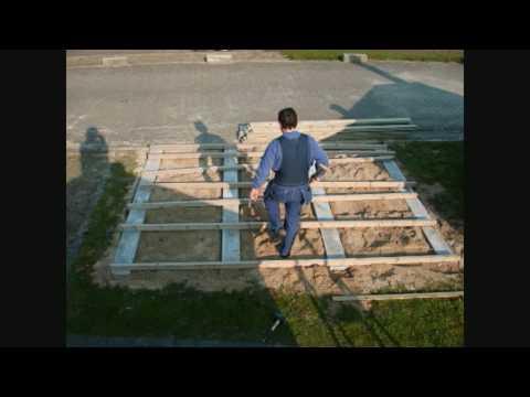 Woodford montage fundering met planken vloer  YouTube