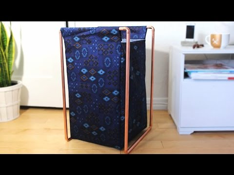 DIY COPPER PIPE LAUNDRY HAMPER