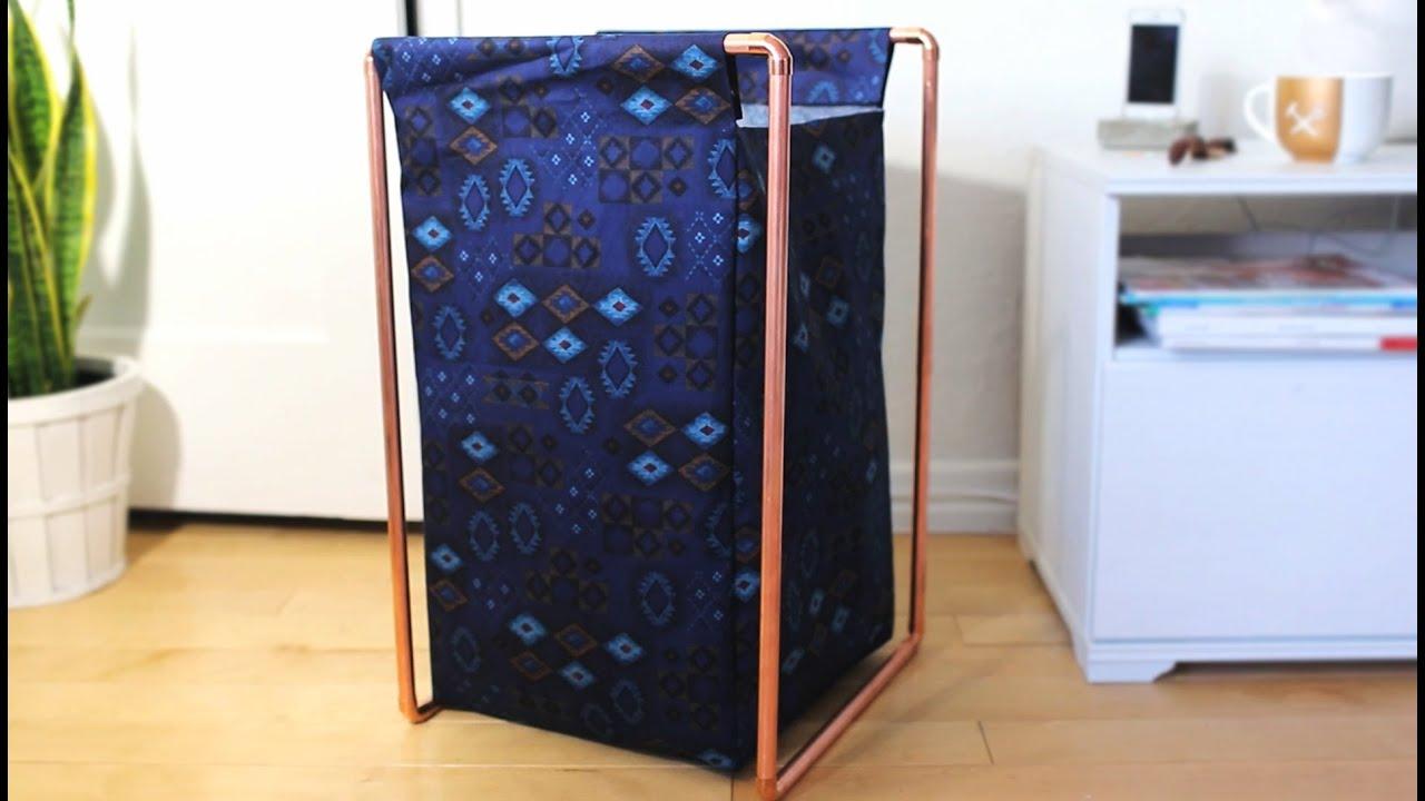 Diy copper pipe laundry hamper youtube solutioingenieria Choice Image