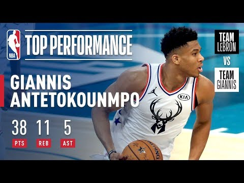 Giannis Puts On Historic All-Star Performance In Charlotte | 2019 NBA All-Star thumbnail