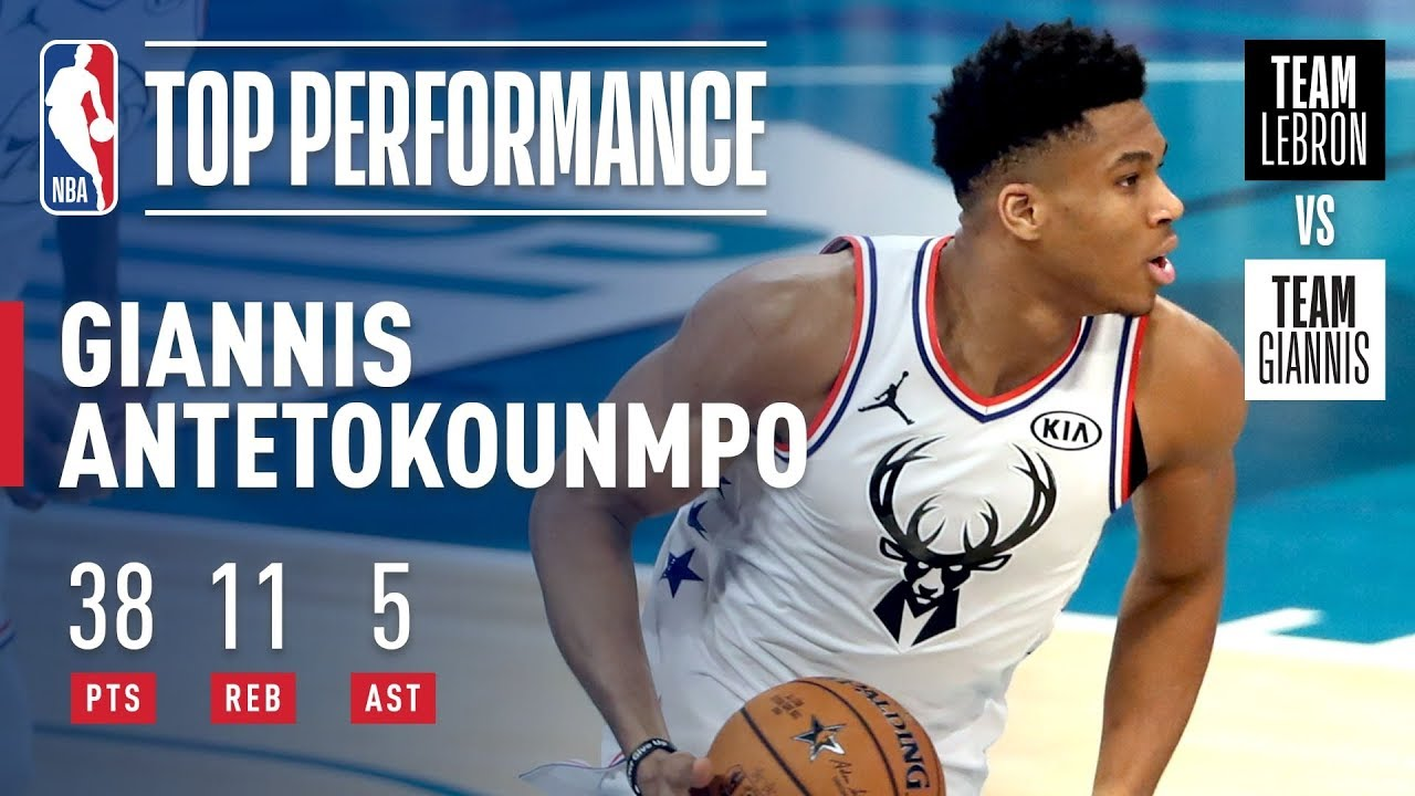 62b8ee6f338 Giannis Puts On Historic All-Star Performance In Charlotte | 2019 ...