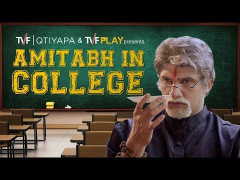 Celebrities in College: Amitabh Bachchan