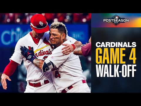 Yadier Molina seals WALK-OFF win for Cardinals in extra innings of Game 4 | NLDS Highlights