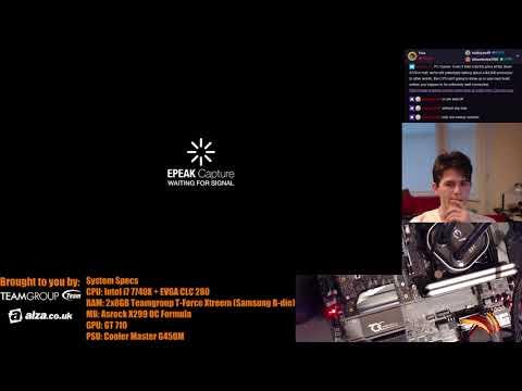 AHOC livestream archive 59: Max DDR4 memory clock on the Asrock X299 OC Formula