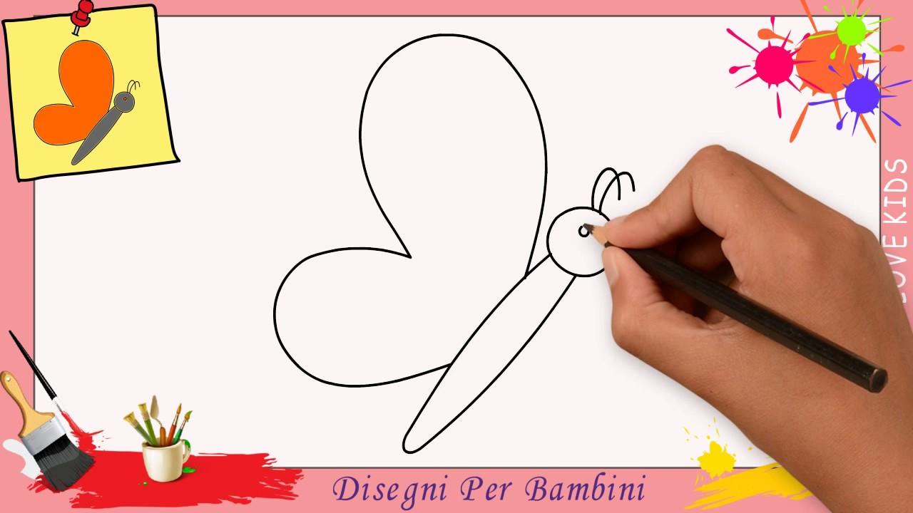 Disegni di farfalle facili per bambini come disegnare un for Disegni di natale facili per bambini