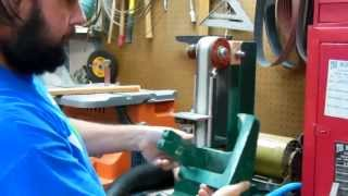 Woodworking: Shop Built Belt Sander: Dust Collection Demonstration