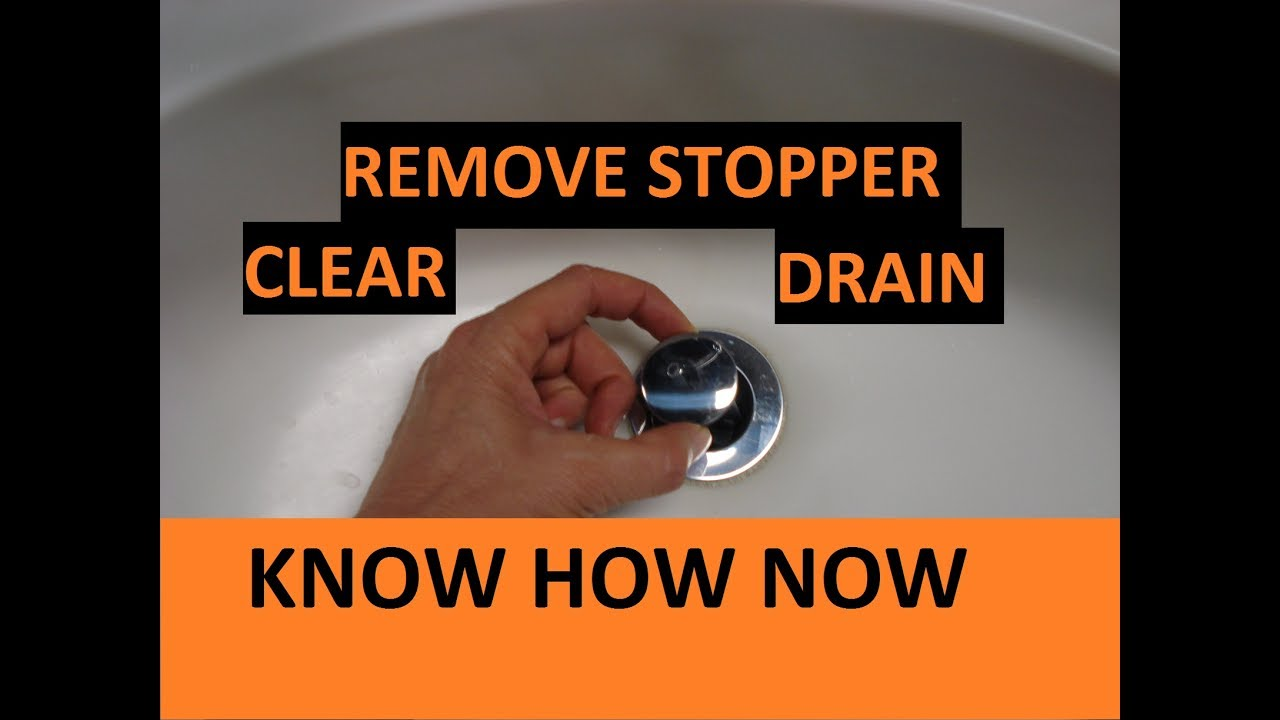 Remove Bathroom Pop Up Stopper Unclog Sink Youtube