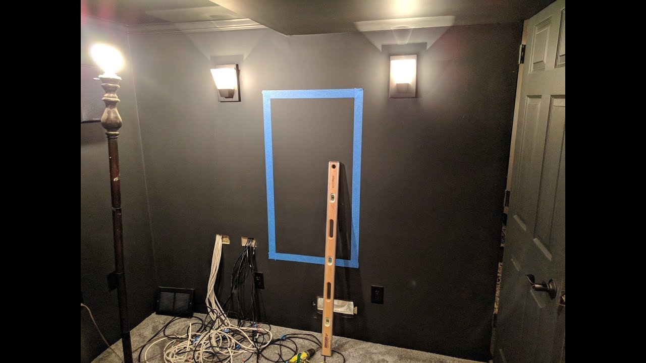 Home Theater Update 06 Creating Recessed Equipment Rack