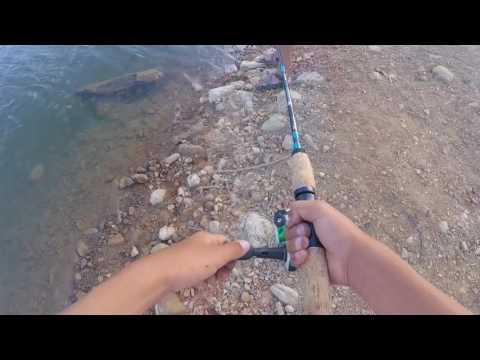 Fishing for panfish on Stevens Creek Reservoir