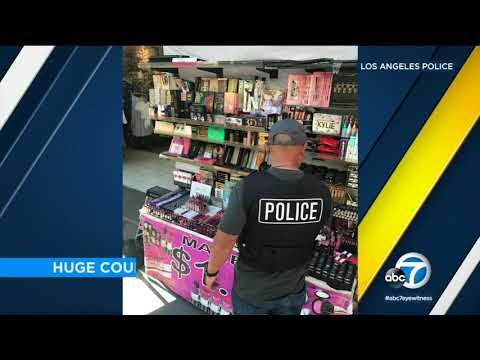 $700,000 worth of fake cosmetics seized by LAPD in Fashion District I ABC7