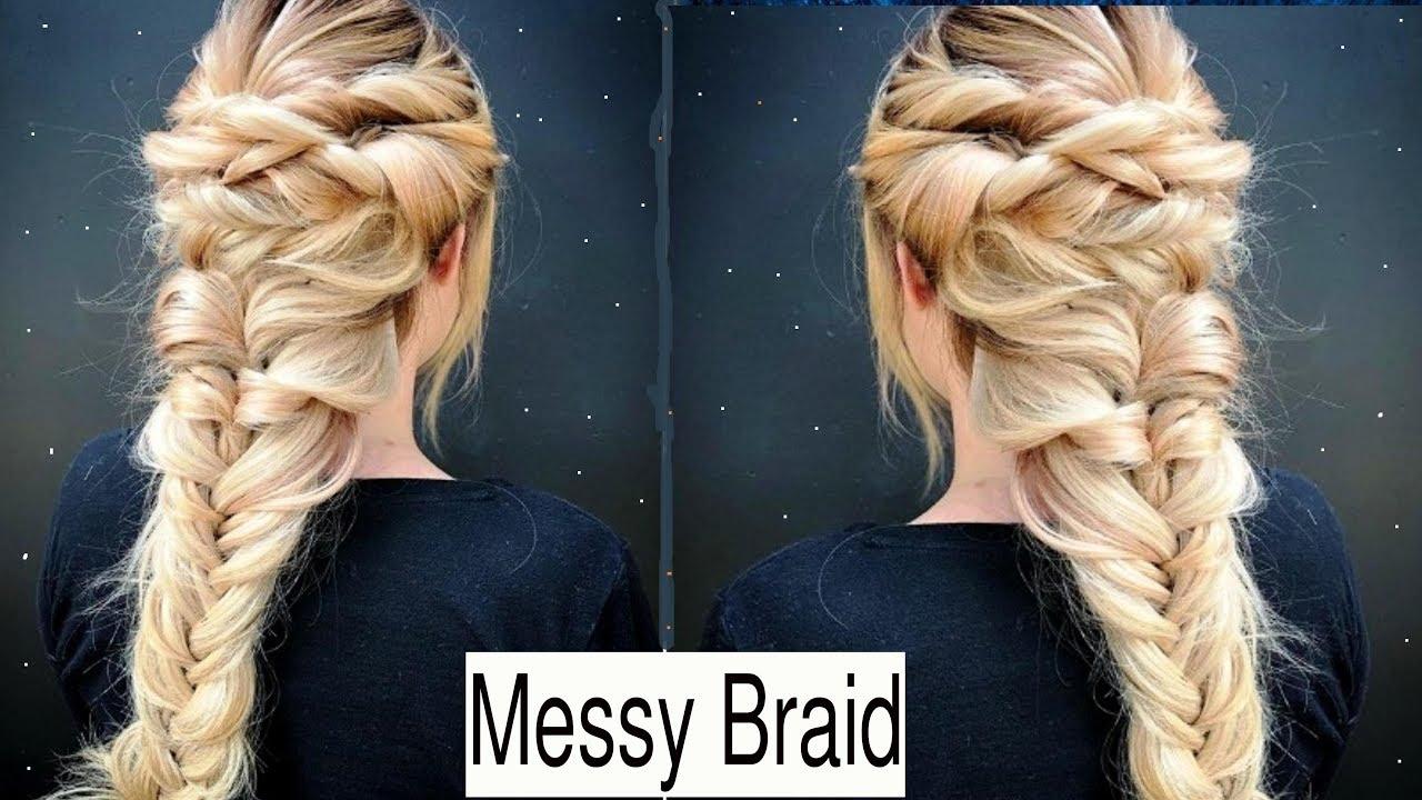 Quick Messy Braid Hair Tutorial Cute Braid Hairstyle For Spring Summer Youtube