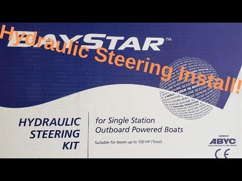 BayStar Steering Upgrade Installed On My Mako Boat!