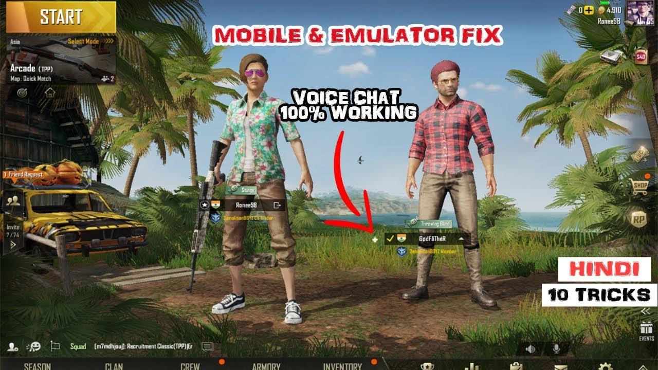 tencent emulator mic not working