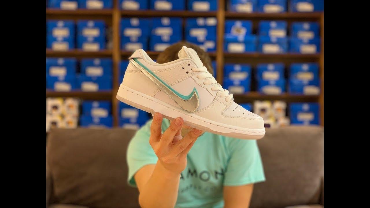 a601063287c6 Nike SB diamond dunks WHITE