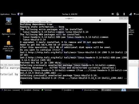 Kali Linux - Install Kernel Headers (FIX VMWARE PLAYER) 2014 !
