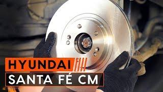 Hoe een voor remschijven van voor remblokken vervangen op een HYUNDAI SANTA FÉ CM [HANDLEIDING]