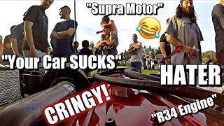 FUNNY CAR SHOW REACTIONS in my Single Turbo 240SX #6