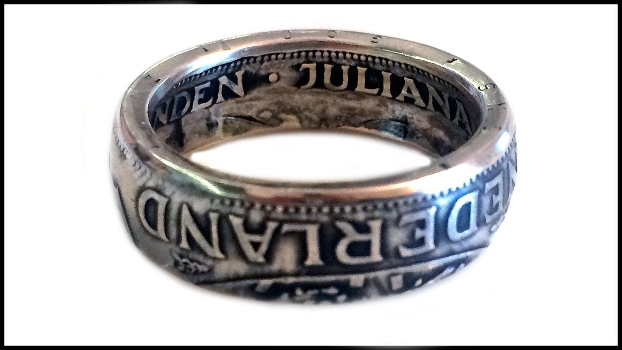 Coin Ring - Netherland Silver Gulden - Dutch Gulden - Rings from Coins -  Made by Coin Rings Studio