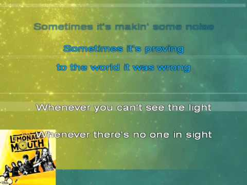 Lemonade Mouth - Breakthrough (karaoke)