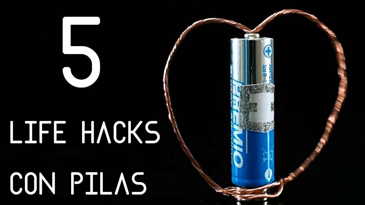 5 LIFE HACKS con pilas | Life Hacks faciles en español
