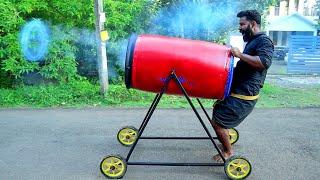 Vortex Cannon Making | റിങ്ങ് വിടുന്ന പീരങ്കി കണ്ടിട്ടുണ്ടോ | M4 TECH |