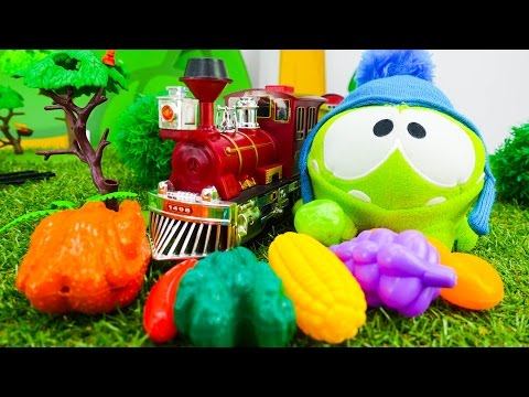 Om-Nom Toy Story. Om-Nom And Toy Train: Where Is My Food? Kids Games And Om-Nom Games.