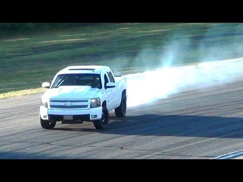 Procharged Chevy Silverado Pickup Truck Hooning (Drifting/Burnouts/etc.)
