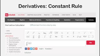 Derivatives: Constant Rule