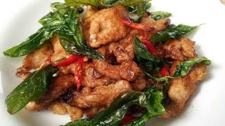 Stir-fried Chicken With Chillies And Basil