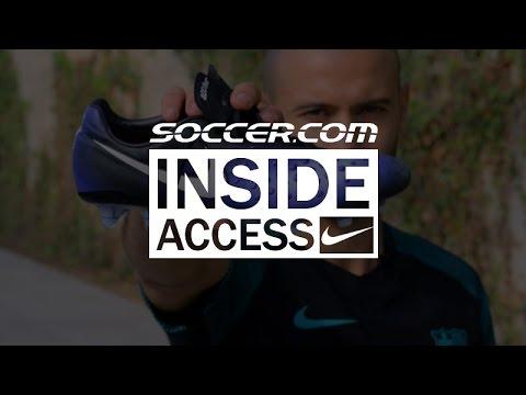 Javier Mascherano shows off his Nike Magista Obra II at Barcelona training