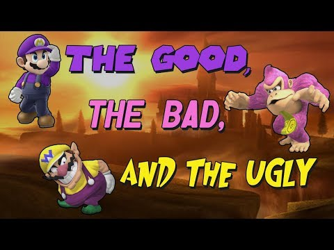 The Good, The Bad and The Ugly - SSB4 DK/Wario/Mario Montage