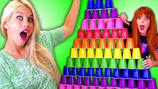 Cups Challenge!!! + Hair & Beauty Tips & Hacks