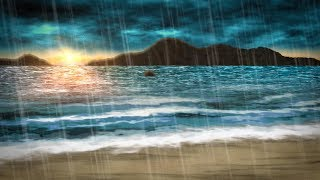 Rain Sounds for Sleeping + Ocean Waves | Also for Studying, Focus, Relaxation | White Noise