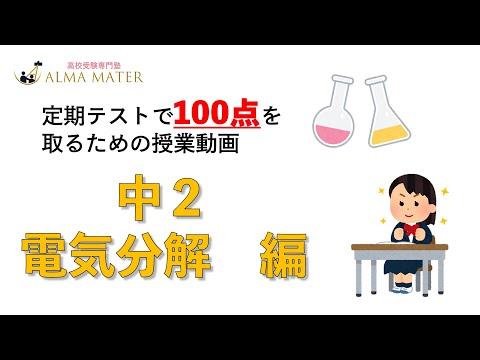 【中2定期テスト対策】電気分解の実験について学びます! vol63